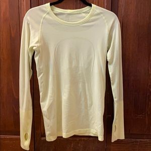 Neon yellow lululemon long sleeve